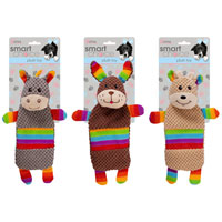 Small Dog And Puppy Rainbow Plush Toy
