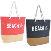 Canvas Beach Bag with Rope Handle