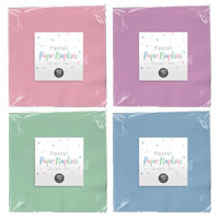 Pastel Disposable Paper Napkins 40 Pack