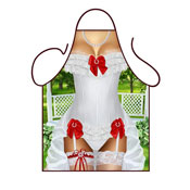 Novelty Apron Wedding Dress