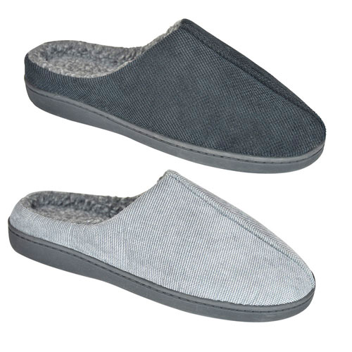 Mens Cleated Sole Slippers With Memory Foam