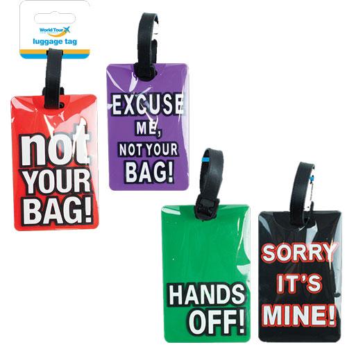 Comical Slogan Travel Luggage Tag