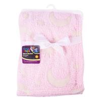 Glow In The Dark Baby Blanket Pink