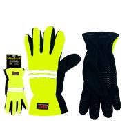Mens Hi Vis Fleece Gloves Heat Machine