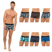 Mens 3 Pack Camo Boxer Shorts