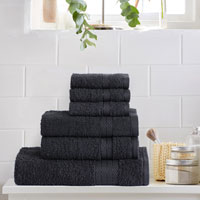 6 Piece Luxury Towel Bale Set Black