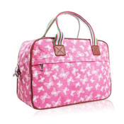 Glitter Butterfly Weekend Bag Pink