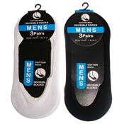 Mens Invisible Cotton Rich Socks