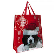 Christmas Santa Dog Shopping Bag