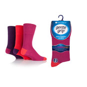 Mens Gentle Grip Socks Colourburst Fiery