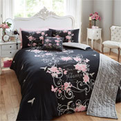 Bed in a Bag Set Perfume Print Black