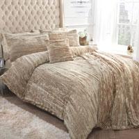 Crinkle Velvet Gold Duvet Set