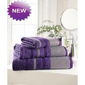 Egyptian Cotton Bath Towel Purple Stripe