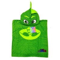 Official PJ Masks Towel Cotton Poncho Green