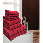 Luxurious Egyptian Red 8 Piece Towel Bale