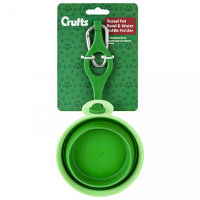 Crufts Travel Pet Bowl With Hook And Water Holder