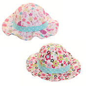 Girl's Assorted Floral Sun Hats