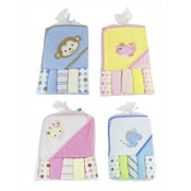 Baby Hooded Towel with 5 Wash Cloths