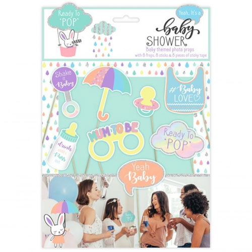 Baby Shower Photo Props 8 Pack