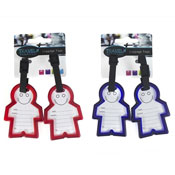 Novelty Man-Shaped Luggage Tags