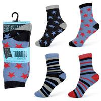 Boys Thermal Stripe Design Socks