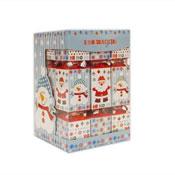 9 Mini Crackers Square Santa & Snowman