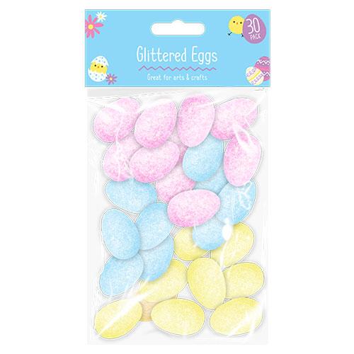 Easter Decorative Glittered Eggs 30 Pack