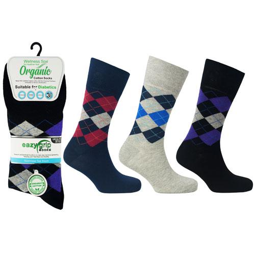 Mens Wellness Organic Cotton Socks Rome