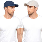 Mens Baseball Cap Wth Folding Peak Navy/Beige