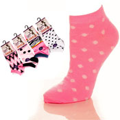 Ladies Trainer Socks Animal Prints