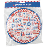 Large BBQ Paper Plates 6 Pack