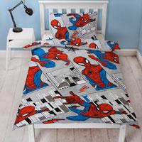 Official Spiderman Flight Duvet Set