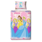 Disney Princess Single Reversible Duvet Set