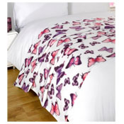Snug and Cosy Fleece Blanket Butterfly Design