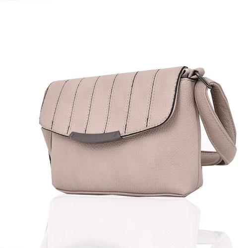 Ladies Lilly Envelope Style Mini Crossbody Bag Beige