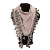 Ladies Fashion Scarves Triangle With Tassles