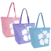 Flower Print Swim/Beach Bag