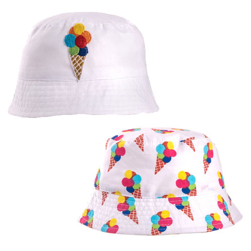 Girls Ice Cream Bush Hat