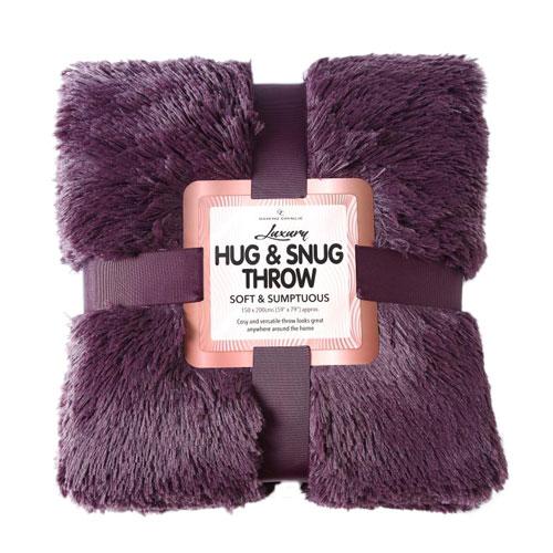 Hug And Snug Throw Purple