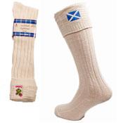 Mens Wool Rich Scottish Kilt Socks