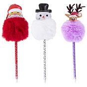Christmas Festive Design Pom Pom Pen