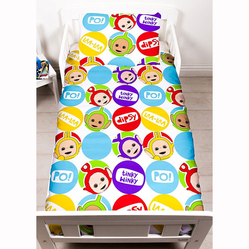 Teletubbies 4 Piece Toddler Bed Set