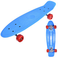 Retro Skateboard Blue