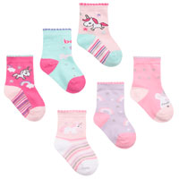 Baby Girls 3 Pack Unicorn Socks