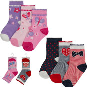 Baby Novelty Design Socks Hearts & Butterfly