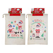 Large Elf Non Woven Draw String Christmas Eve Bag