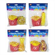 Squeaky Vinyl Fast Food Toys