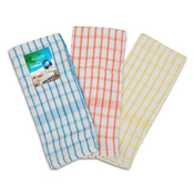 3 Pack Mono Check Tea Towels Carton Price