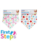 Baby Bandana Bib Star & Heart Print