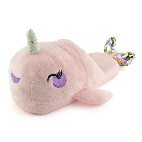 Ladies Pink Narwhale Slippers